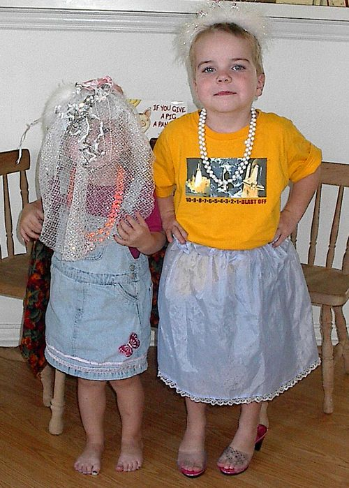 Meg and smash dress up 2