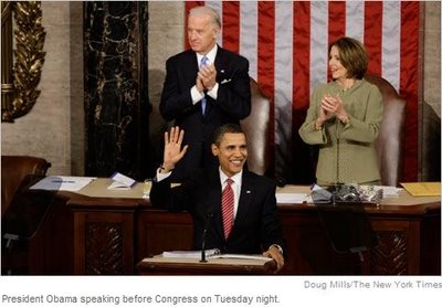 Obama State of the Nation Address image by Doug Mills of NY Times