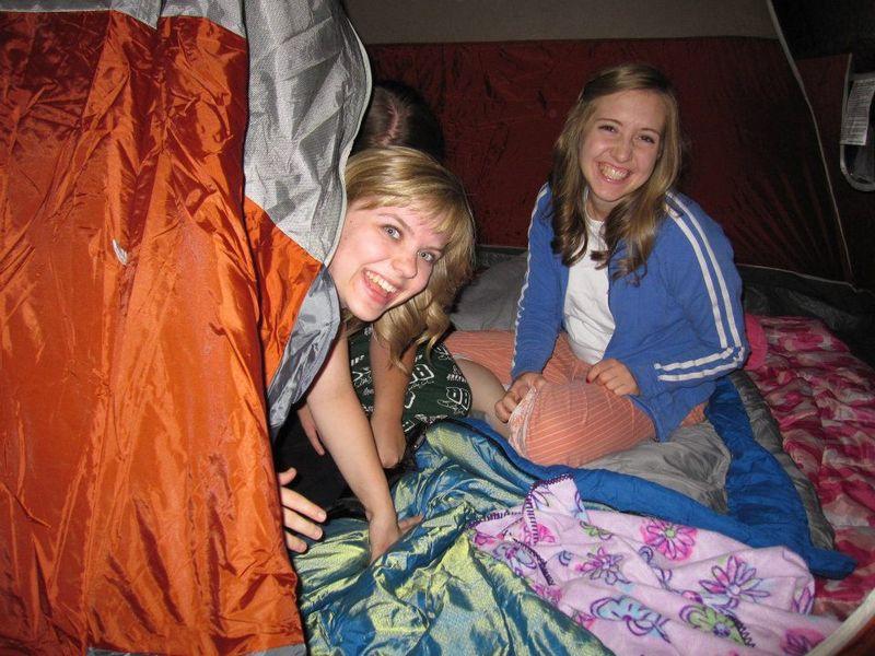 Emi and ra friends camping