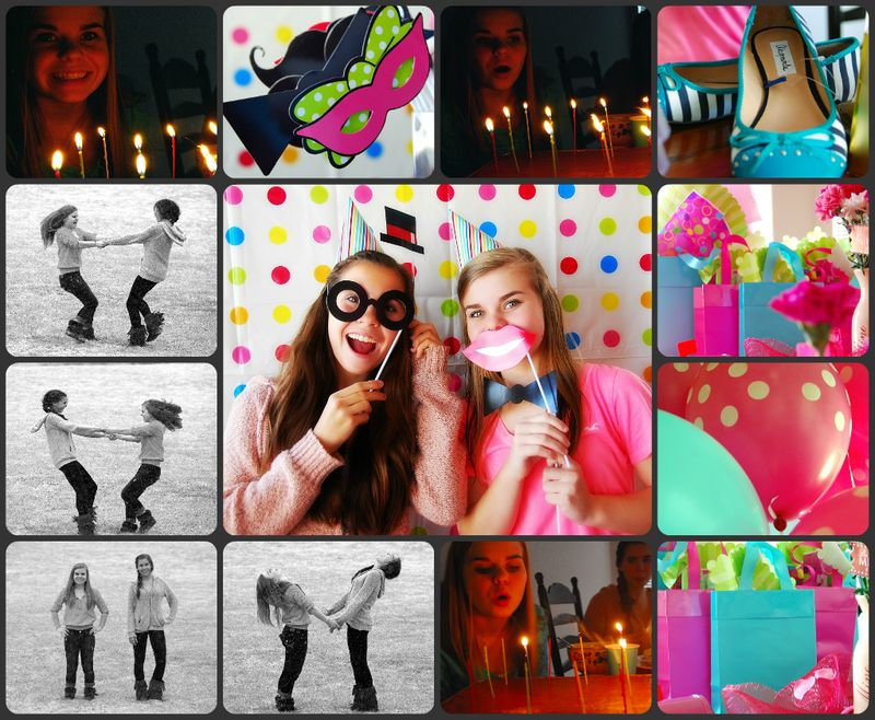 Megan birthday 15 collage
