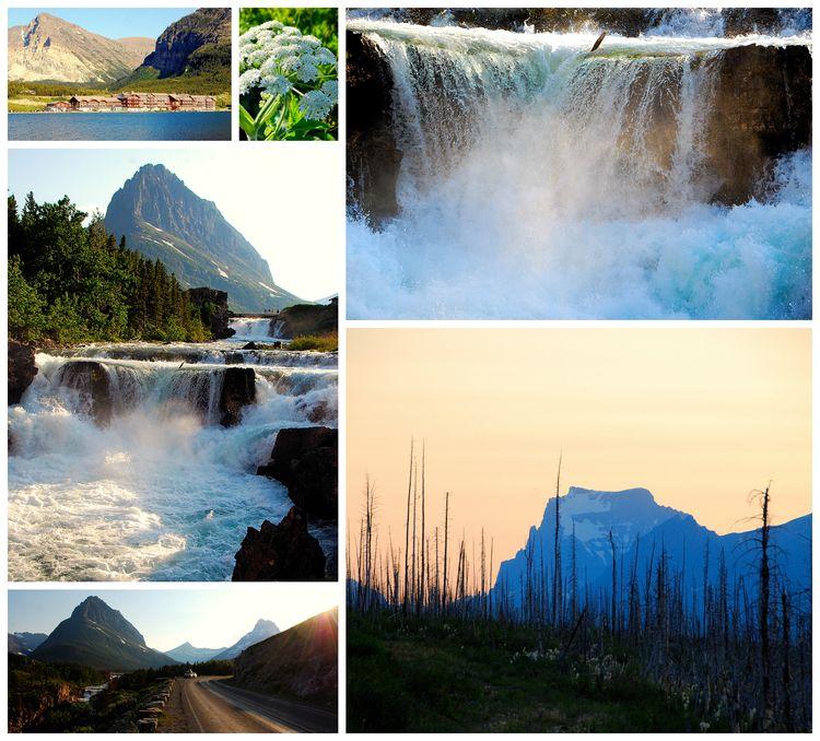 2013 July Glacier collage 2